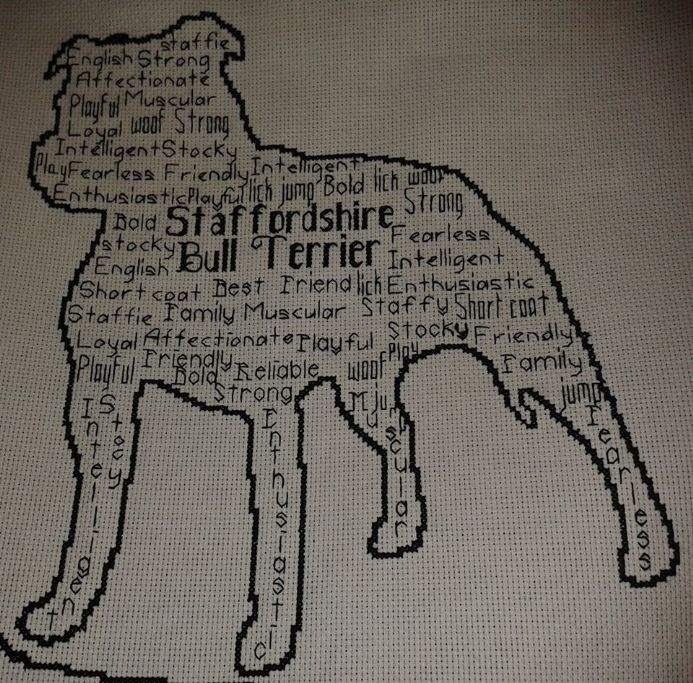 Staffordshire Bull Terrier In Words